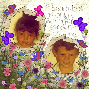 Scrapbook kids in garden