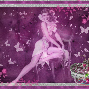 pin up girl purple
