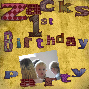zacks birthday Scrapbook
