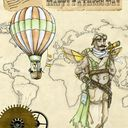 steampunk fathers day card