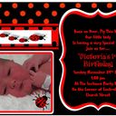 Daughters 1st Birthday Ladybug party Invite
