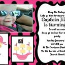 Daughters 5th Pirate Birthday party Invite