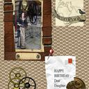Steampunk Birthday card with verse